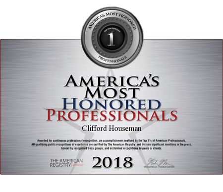 Houseman Most Honored Professional 2018